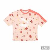PUMA 女 流行系列Floral印花短袖T恤(F) 花瓣 塗鴉-53204327