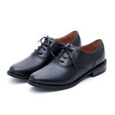 MICHELLE PARK  咖啡廳手札 素面質感低跟牛津鞋-黑色