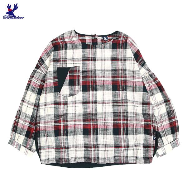 【三折特賣】American Bluedeer - 格紋落肩上衣 秋冬新款