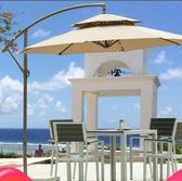 戶外露台遮陽傘庭院花園大太陽傘香蕉傘室外露天咖啡廳休閒擺攤傘igo『新佰數位屋』