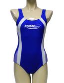 【零碼出清 】梅林泳裝↘特賣~SPORTS白搭紫邊連身三角泳衣 NO.M1401