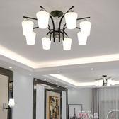 吸頂燈現代客廳燈 簡約大氣大廳吸頂燈宜家臥室燈北歐創意輕奢led燈具 數碼人生igo