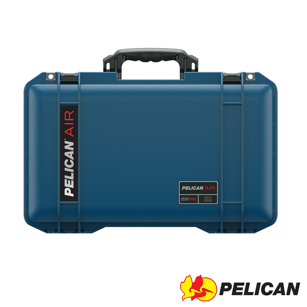 美國 PELICAN 1535TRVL Air Travel Case 輪座拉桿超輕氣密箱-(藍) 公司貨