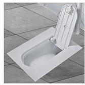 蹲坑式沖水箱帶洗手盆衛生間家用蓋板全封閉防臭蹲廁沖便池 帶蓋帶彎  星河光年DF