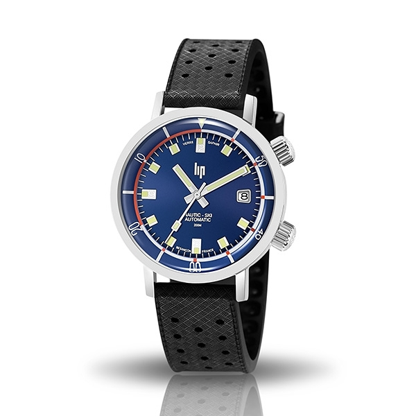 【lip】Nautic Ski時尚簡約時標潛水機械腕錶-低調黑/671504/台灣總代理公司貨享兩年保固
