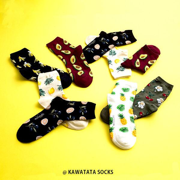 韓國滿版水果葉子短襪/6色【557082402】