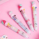 韓國小清新學生糖果色多功能10色圓珠筆文具 隨機出貨【庫奇小舖】