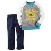 Carter's平行輸入童裝 男寶寶 長袖T恤上衣&褲子 深藍【CA249G262】