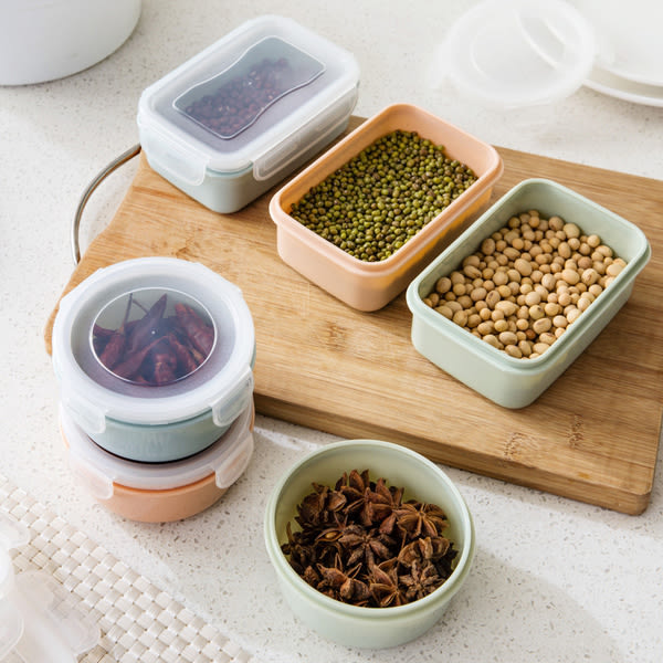Qmishop 素雅色冰箱密封盒 保鮮盒【QJ582】餐具