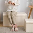 儲物凳 長方形儲物凳可坐人沙發家用時尚換鞋凳多功能折疊收納箱TW【快速出貨八折搶購】