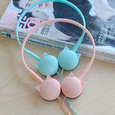小貓卡通耳機頭戴式女生可愛潮學生音樂韓版手機有線帶麥通用vivo 享家生活馆