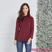 Red House 蕾赫斯-條紋高領上衣(共2色)