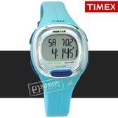 TIMEX 天美時 / TXTW5M19500 / IRONMAN 鐵人系列 計時碼錶 鬧鈴 防水100米 電子 橡膠手錶 藍色 34mm