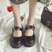 小皮鞋娃娃鞋日繫可愛甜美少女原宿風軟妹愛心小皮鞋女新款淺口學生單鞋  凱斯盾數位3C