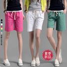 韓版棉麻五分褲女夏季寬鬆大碼休閒直筒中褲學生顯瘦5分褲短褲子