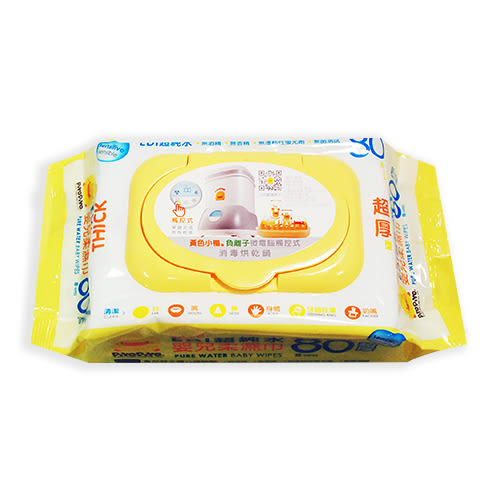 PiYo黃色小鴨-EDI超純水嬰兒柔濕巾超厚80抽 ( 單包 )[衛立兒生活館]