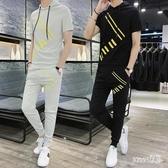 男士休閒套裝夏季2020新款韓版潮流帥氣時尚短袖男夏天運動兩件套 LR19306【Sweet家居】