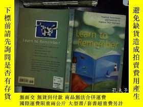 二手書博民逛書店LEARN罕見TO REMEMVERY180897