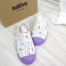 Native JEFFERSON PRINT YOUTH中童鞋 洞洞鞋151001018968 紫【iSport愛運動】