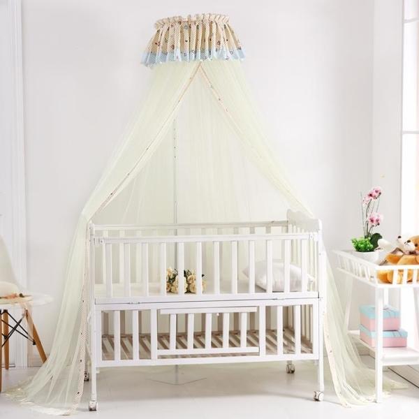 嬰兒床蚊帳兒童寶寶防蚊開門式可折疊帶支架無底小孩蚊帳罩·享家