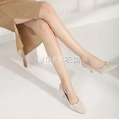 季新款綢緞尖頭淺口細跟高跟鞋白色婚紗鞋優雅女單鞋伴娘鞋 快速出貨