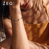 ZEGL冷淡風手練女氣質韓版簡約個性手飾手腕裝飾ins風首飾流行飾