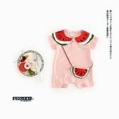 網紅嬰兒衣服 可愛連體衣女 新生兒寶寶包屁衣 爬服夏裝薄款哈衣 萬聖節狂歡價
