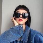 復古方形黑色太陽眼鏡個性潮墨鏡