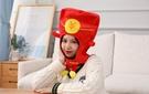 【單一款】紅包袋造型頭帽 過年春酒 變裝帽 拍照裝飾品 聖誕節交換禮物 尾牙春酒派對表演 搞怪