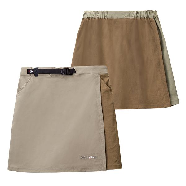 [好也戶外]mont-bell STRETCH OD WRAP SHORTS褲裙 淺卡/淺褐 No.1105583-LK/SD