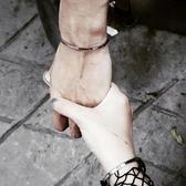 手鐲 歐美時尚手表配飾手環簡約女款百搭飾品鈦鋼男女情侶手鐲刻字禮物-凡屋