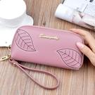 長夾/手拿包 女士手拿錢包女長款新款大容量可放手機包簡約時尚軟皮錢夾
