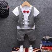 短袖西裝馬甲大碼兒童夏裝1男童禮服套裝2西服小孩4歲寶寶兩件套 qz4939【野之旅】