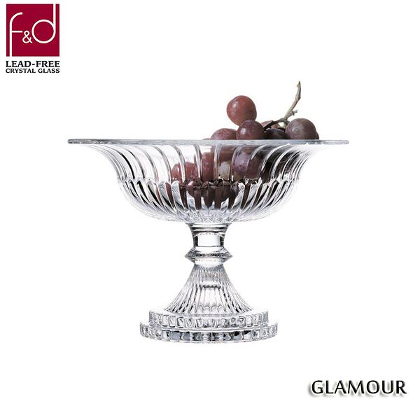 f&d GLAMOUR 光彩高腳水晶水果碗 水晶玻璃 水果盆 水果碗 糖果碗 果缽 30cm