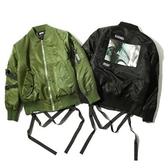 空軍外套-休閒寬鬆百搭翻領男女MA1夾克(單件)2色72av25【巴黎精品】
