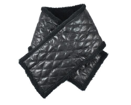 經典菱格穿插式圍巾 駝色 脖圍 圍巾 保暖圍巾 冬季脖圍 保暖圍巾【mocodo魔法豆】