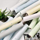 牆紙臥室溫馨素色pvc壁紙防水簡約現代純色背景牆大學生宿舍裝飾 NMS造物空間