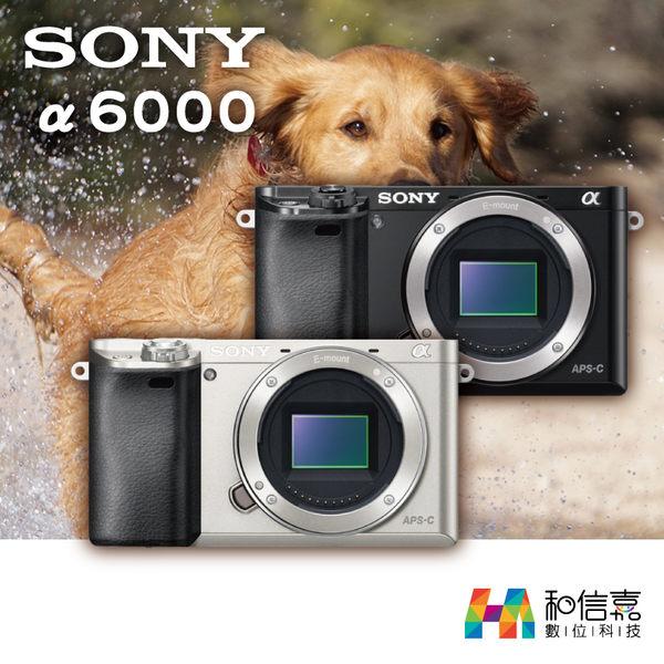 【和信嘉】SONY α6000 ILCE-6000 A6000 E接環 微單眼相機 單機身組 台灣索尼公司貨