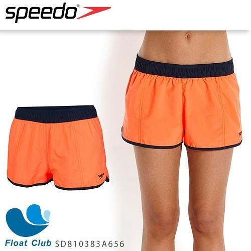 【SPEEDO】女人休閒海灘褲10吋 Colour Mix (橘/藍)  SD810383A656 (出清商品恕不退換)
