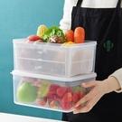 雙層帶蓋瀝水籃保鮮盒 家用冰箱食物收納盒...