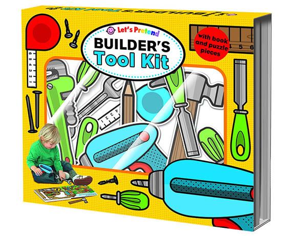 Let's Pretend:Builder's Tool Kit 工具達人拼圖遊戲書(英國版)