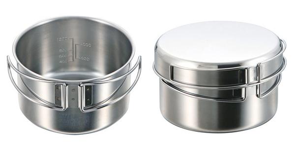 丹大戶外用品【Captain Stag】日本鹿牌 M-5511 燕三条不鏽鋼麵鍋2L 不鏽鋼鍋/泡麵鍋/戶外鍋具