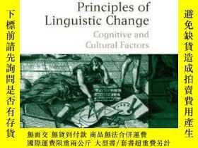 二手書博民逛書店Principles罕見Of Linguistic Change, Cognitive And Cultural