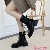 馬丁靴 馬丁靴女英倫風潮酷2021年新款街拍網紅瘦瘦靴帥氣機車中筒靴 小天使 99免運