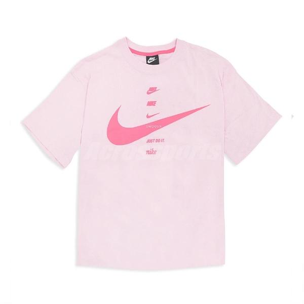 Nike 短袖T恤 NSW Short-Sleeve Top 粉紅 女款 短T 寬鬆 運動休閒 【ACS CU5683-663