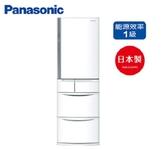 11/30前特價Panasonic 國際牌 411公升 日製 5門電冰箱ECONAVI智慧節能Ag除臭 微凍結保鮮 NR-E414VT 白色
