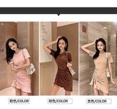 特賣洋裝網紅裙子顯瘦性感小個子流行休閒收腰氣質洋裝女夏天潮