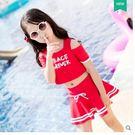 韓國運動可愛公主分體裙式泳裝LVV403【kikikoko】