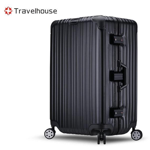 Travelhouse 尊爵典藏II 29吋PC運動款鋁框行李箱(時尚黑)