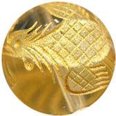 白水晶雕金鳳單珠10mm
